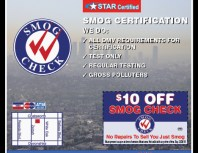 Official Smog Test Only, Porter Ranch, coupons, direct mail, discounts, marketing, Southern California