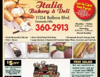 Italia Bakery & Deli, Porter Ranch, coupons, direct mail, discounts, marketing, Southern California