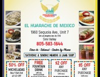 El Huarache de Mexico, Simi Valley,, coupons, direct mail, discounts, marketing, Southern California