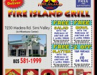 Fire Island Grill, Simi Valley,, coupons, direct mail, discounts, marketing, Southern California