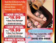 Chinese Foot Massage, Simi Valley,, coupons, direct mail, discounts, marketing, Southern California
