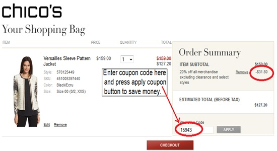 Chicos online coupon codes