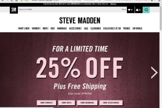 Steve Madden Coupon Get 45% Discount