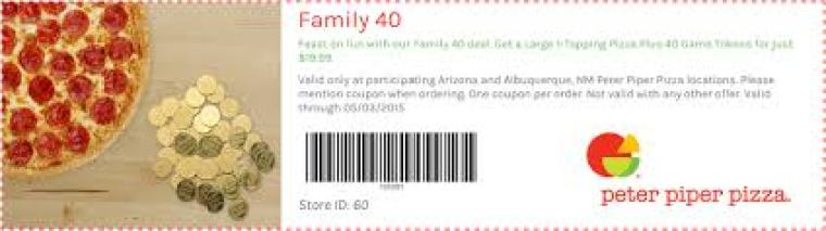 Coupons For Peter Piper Pizza