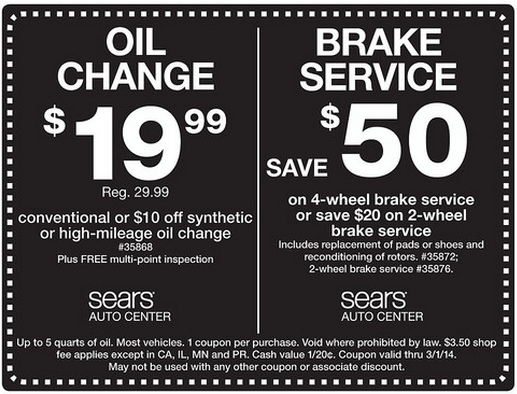 image relating to Sears Auto Printable Coupons titled 45%Off Sears Car Coupon Promo Code August 2019 Couponbates