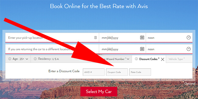 how to use avis discount codes