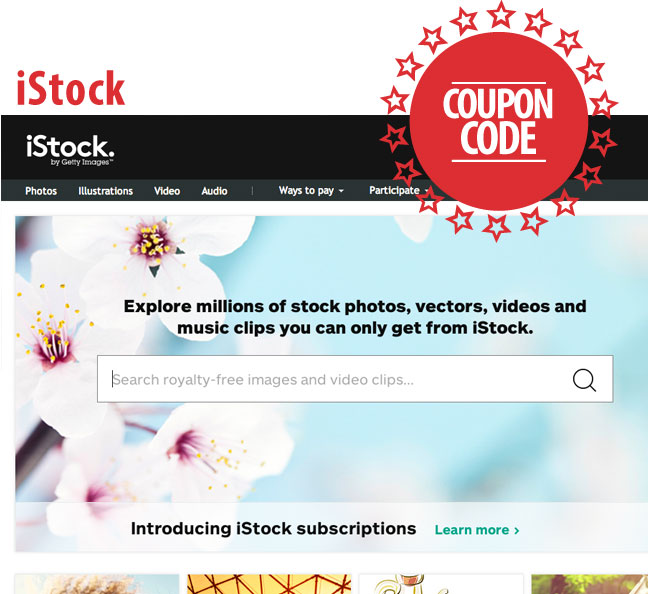 stock image coupon codes