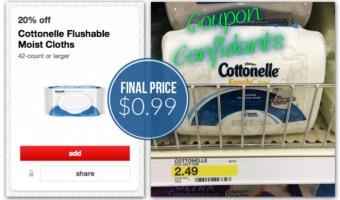 Cottonelle Fresh Care Cleansing Cloths, Only $0.99 at Target!