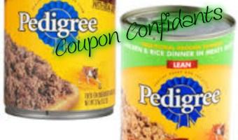 Hot stackable coupons on Pedigree dog food at Target!