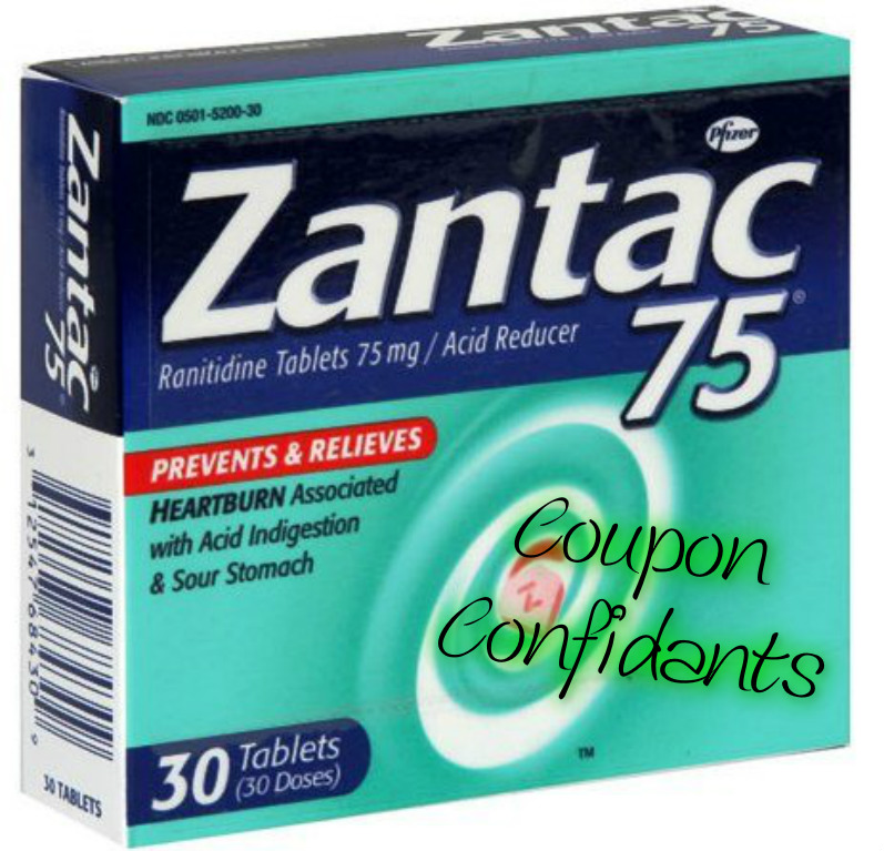 picture relating to Zantac Printable Coupon titled WOW! Warm package upon Zantac at Concentration just .13 ⋆ Coupon Confidants