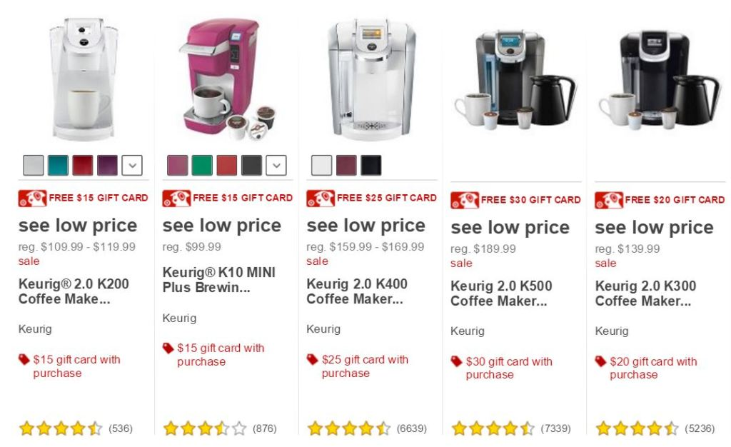 Target~Gift cards with Keurig Purchases!!