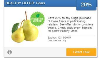 SavingStar healthy offer~20% Pears