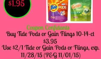 Tide Pods or Gain Flings as low as $1.95 at Family Dollar