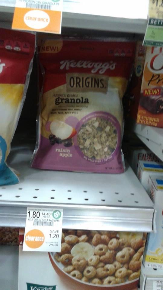 2 Kelloggs Orgins & Dannon Yogurt @ $2.20 for all 3 @ Publix