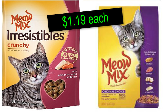 Check out this PURfect coupon for the Publix sale on Meow Mix ~ Makes them $1.19