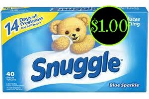 Snuggle Fabric Softener Sheets ONLY $1.00 @ Dollar General