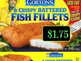 Gorton's Fish  $1.75 a box this week @ Winn Dixie!
