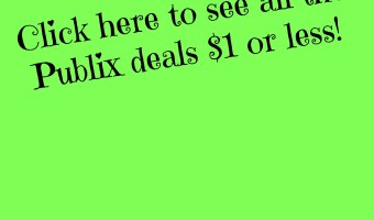 $1 or Less PUBLIX deals! Click here for all the HOT deals from the Green & Purple Flyer and Weekly Sales!