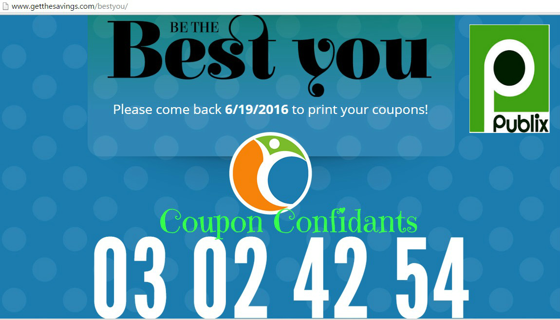 "Countdown has begun for new "" Be the Best You"" Publix coupons!"