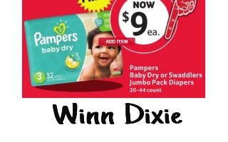 *WINN DIXIE* Pampers Jumbo Pack Only $4 Ea