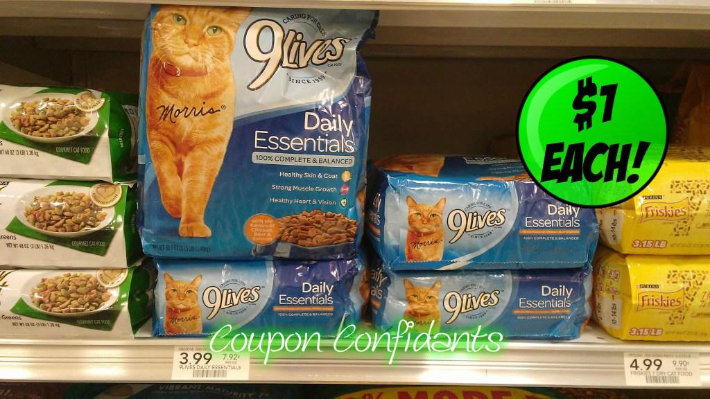 9Lives Cat Food only $1 at Publix!