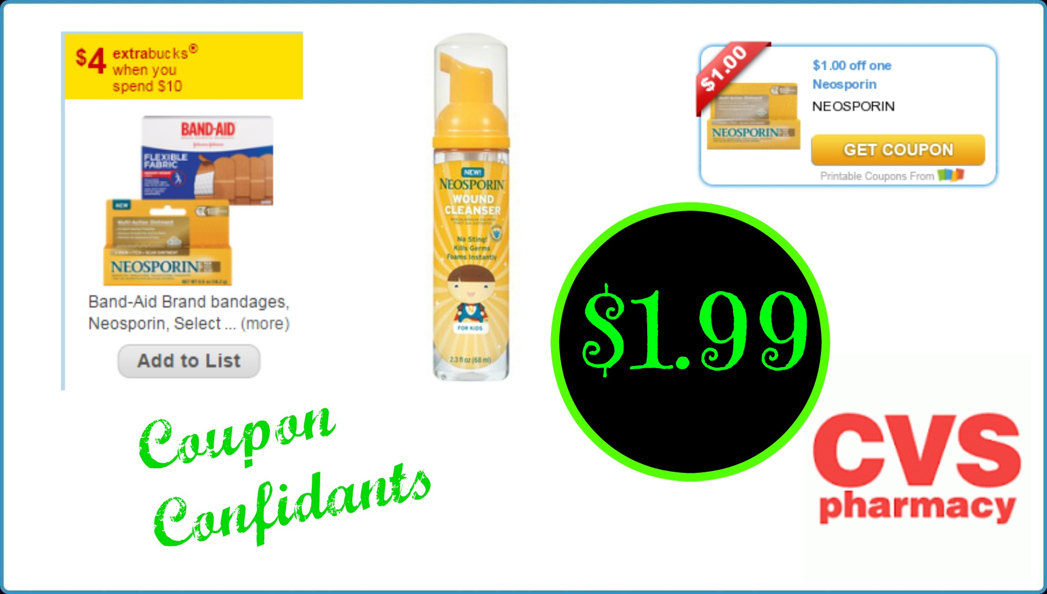 Neosporin As Low As 199 At Cvs This Week Coupon Confidants
