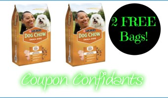 2 FREE bags of Dog Chow @ Winn Dixie!