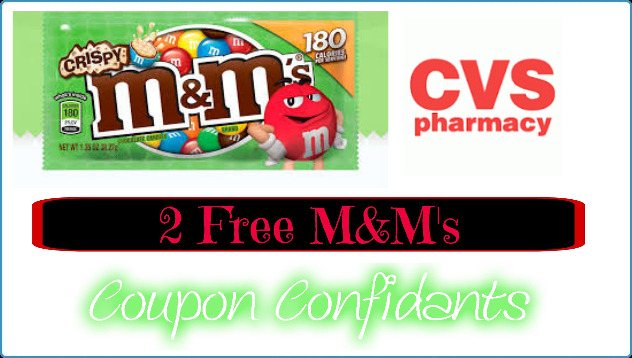 Stocking Stuffer alert: 2 FREE bags of M&Ms @ CVS!