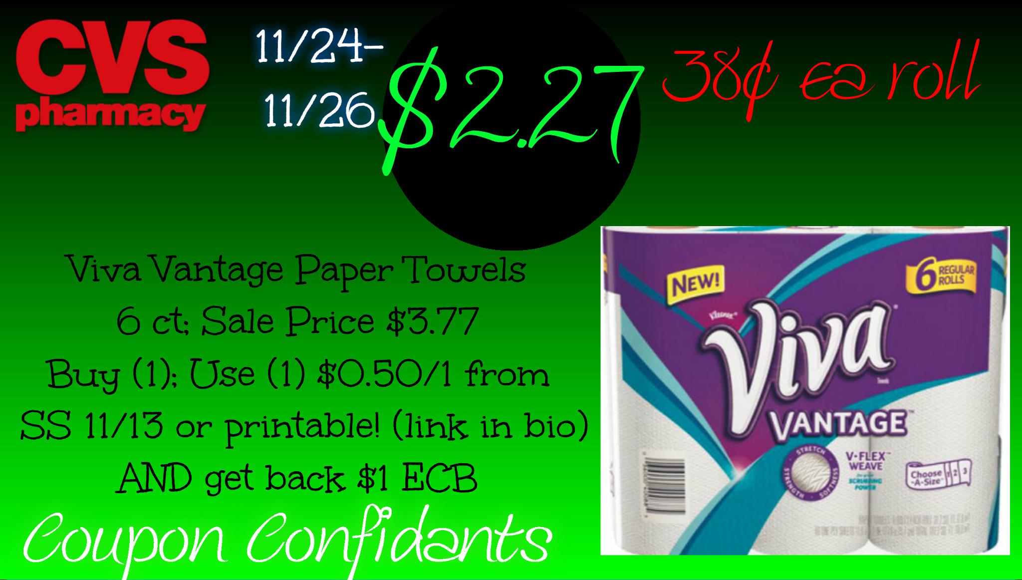 HOT deal on Viva Vantage Paper Towels at CVS!