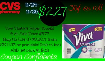 HOT deal on Viva Vantage Paper Towels at CVS!