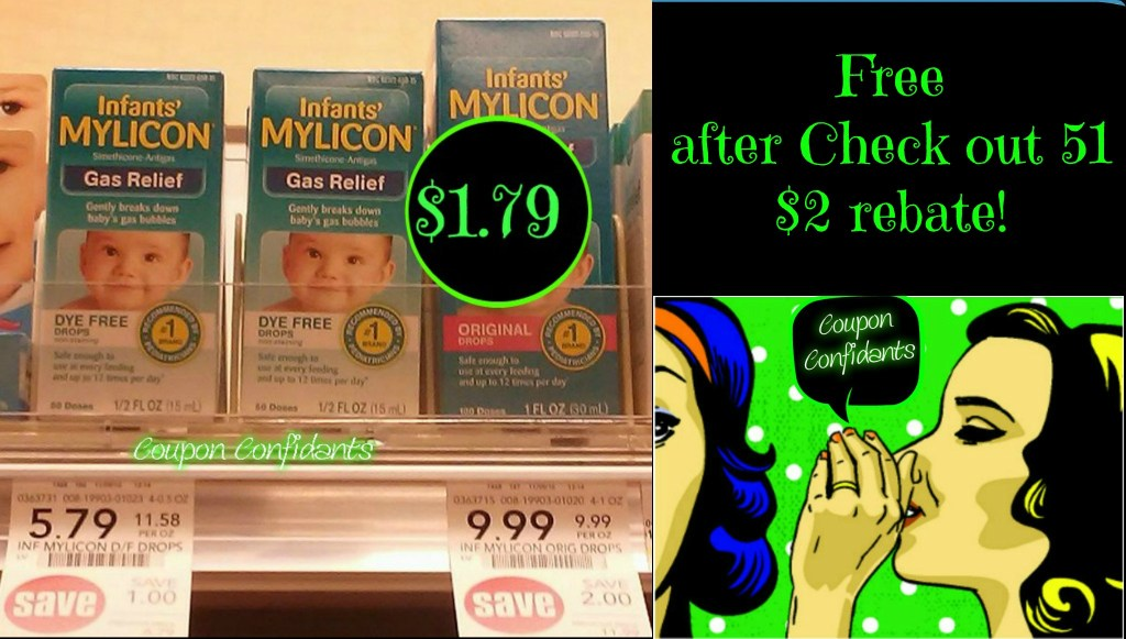Mylicon Drops Free, after check out 51 rebate, @ Publix