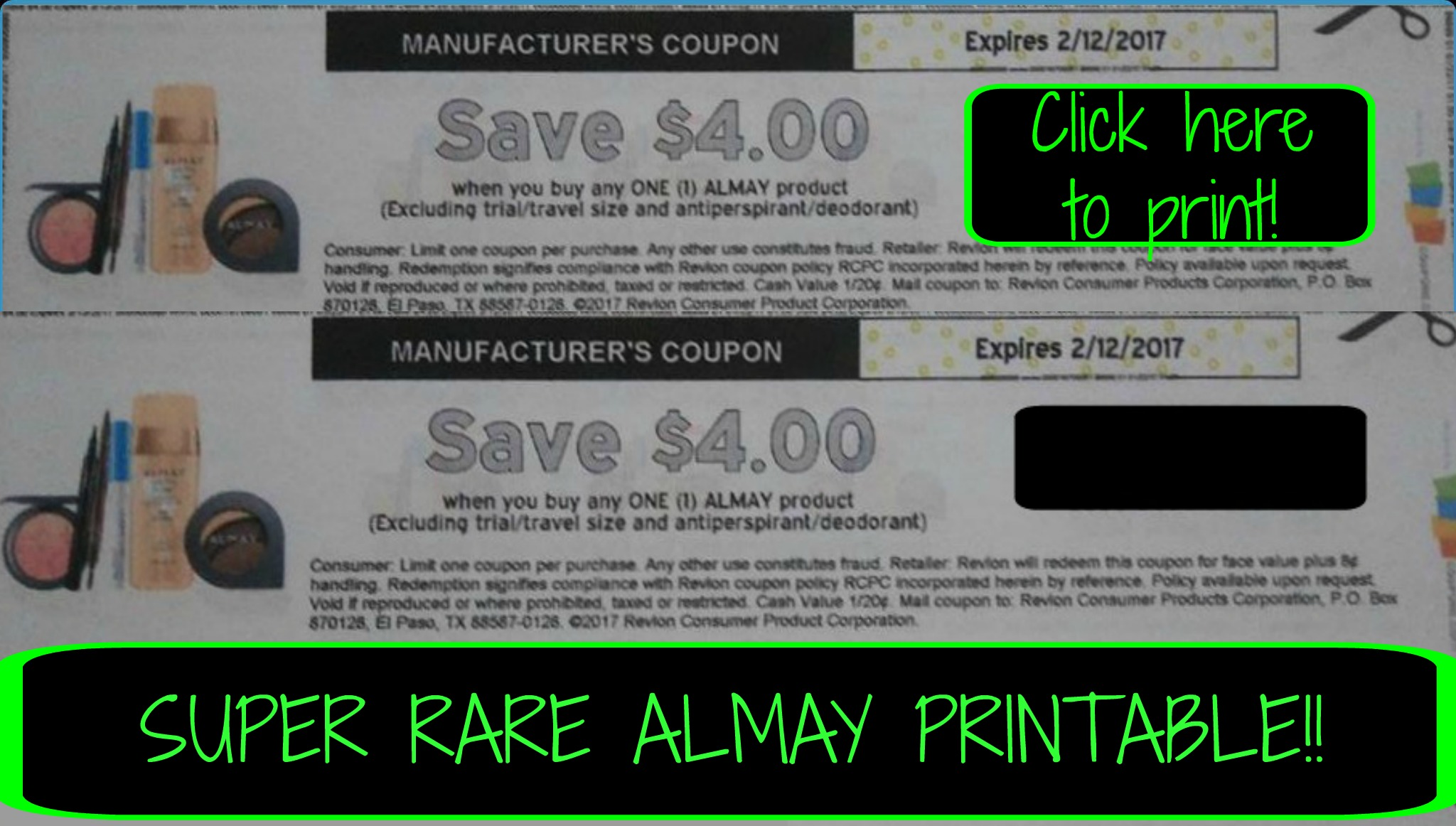 photo regarding Almay Coupon Printable named Simply click listed here toward print ~ Tremendous Scarce ?? Sizzling ?? $4/1 ALMAY