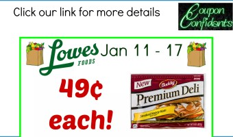 49¢ for Lunch meat! Stock up at Lowe's Foods!