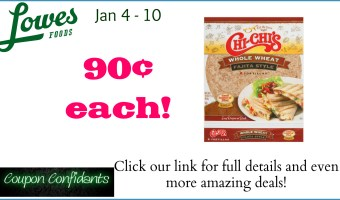 90¢ for Chi-Chi Tortillas at Lowe's Foods!
