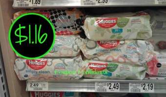 Huggies Wipes $1.16 each at Publix!