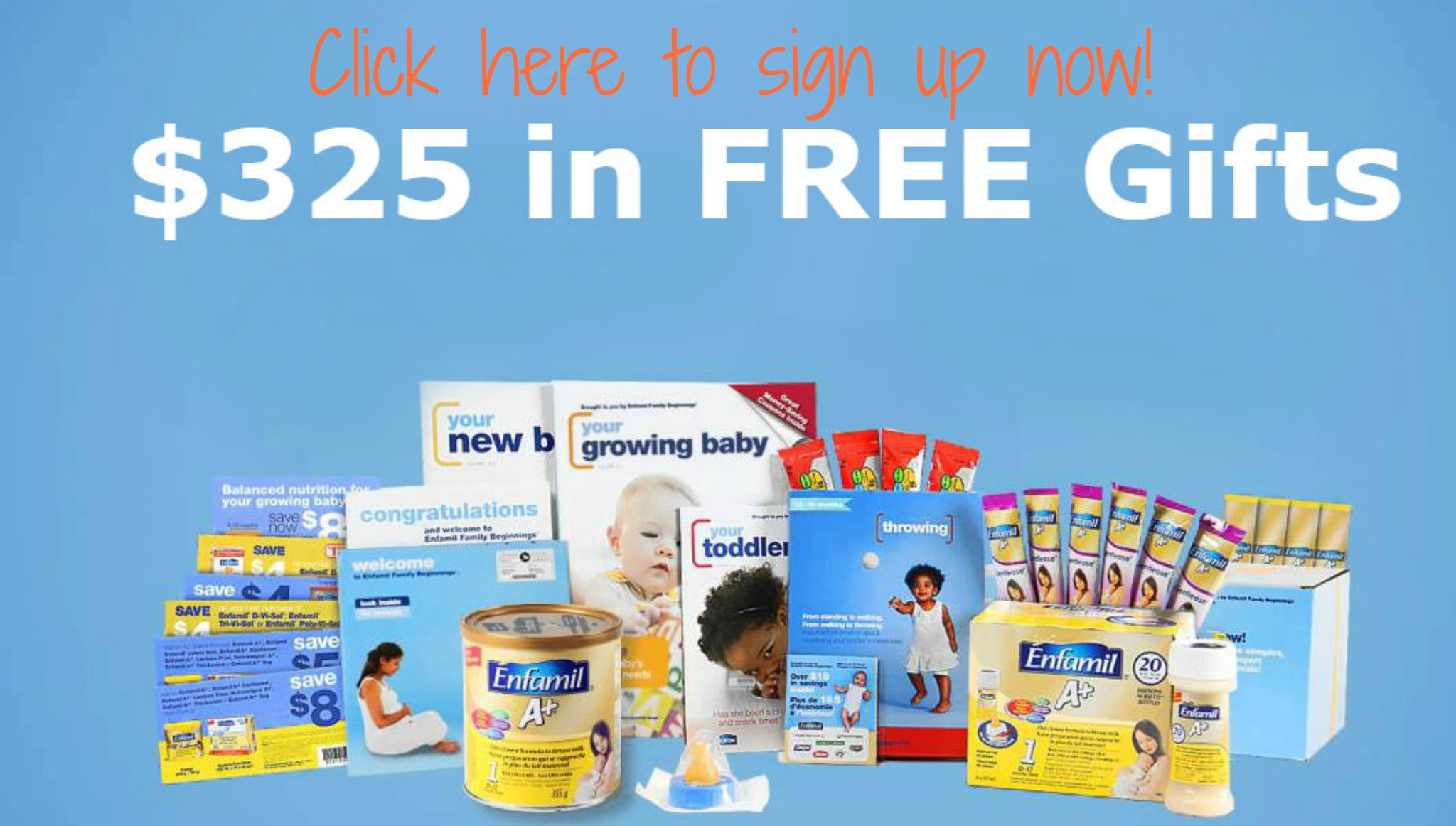 Expectant or new mom? Join Enfamil Family Beginnings and receive $325 in free gifts