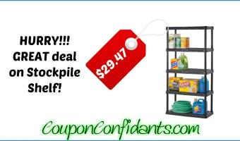 5 Tier Stockpile Shelf for only $29.47 RUN!!!