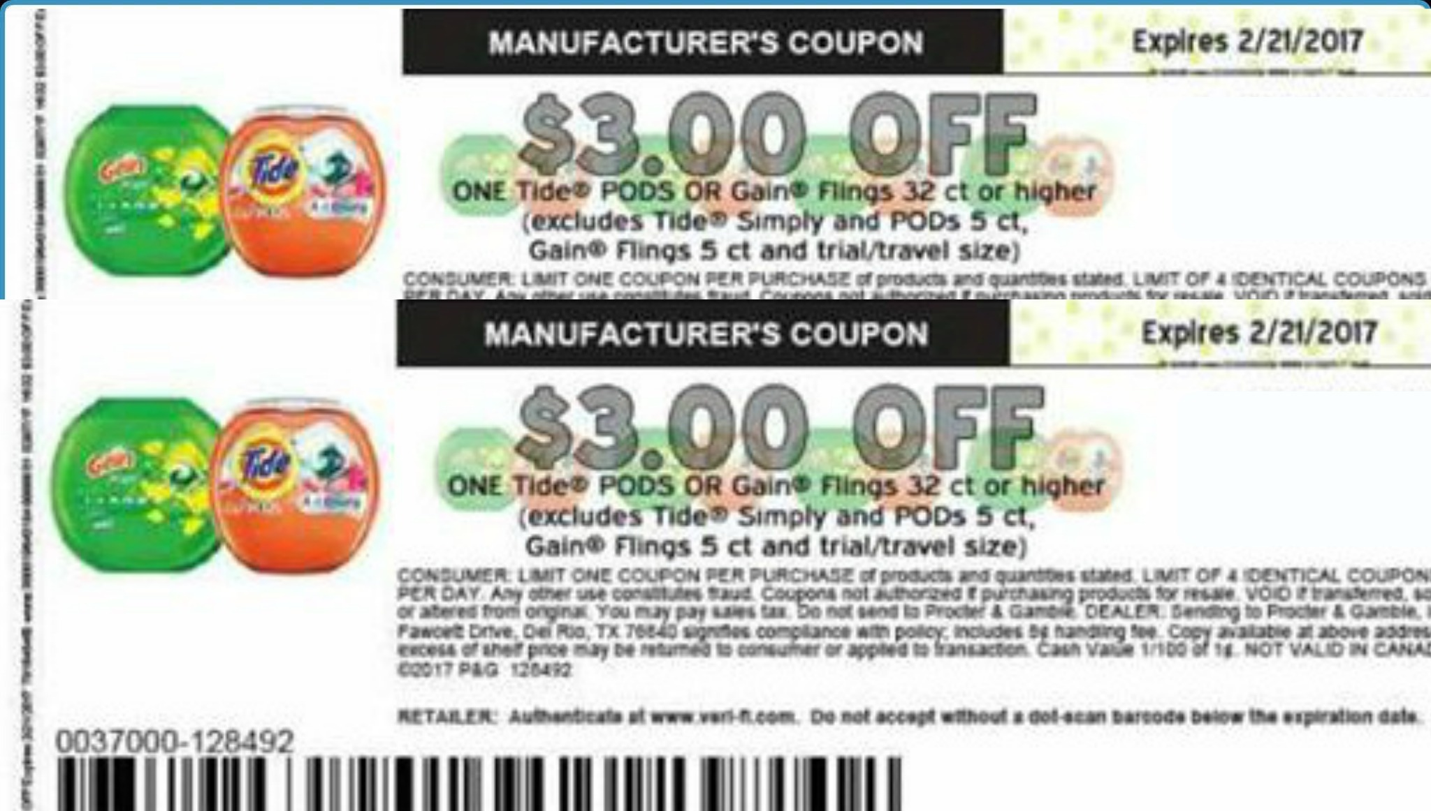 graphic regarding Printable Gain Coupons called Very hot Tide Pods or Financial gain Flings $3/1 printable coupon