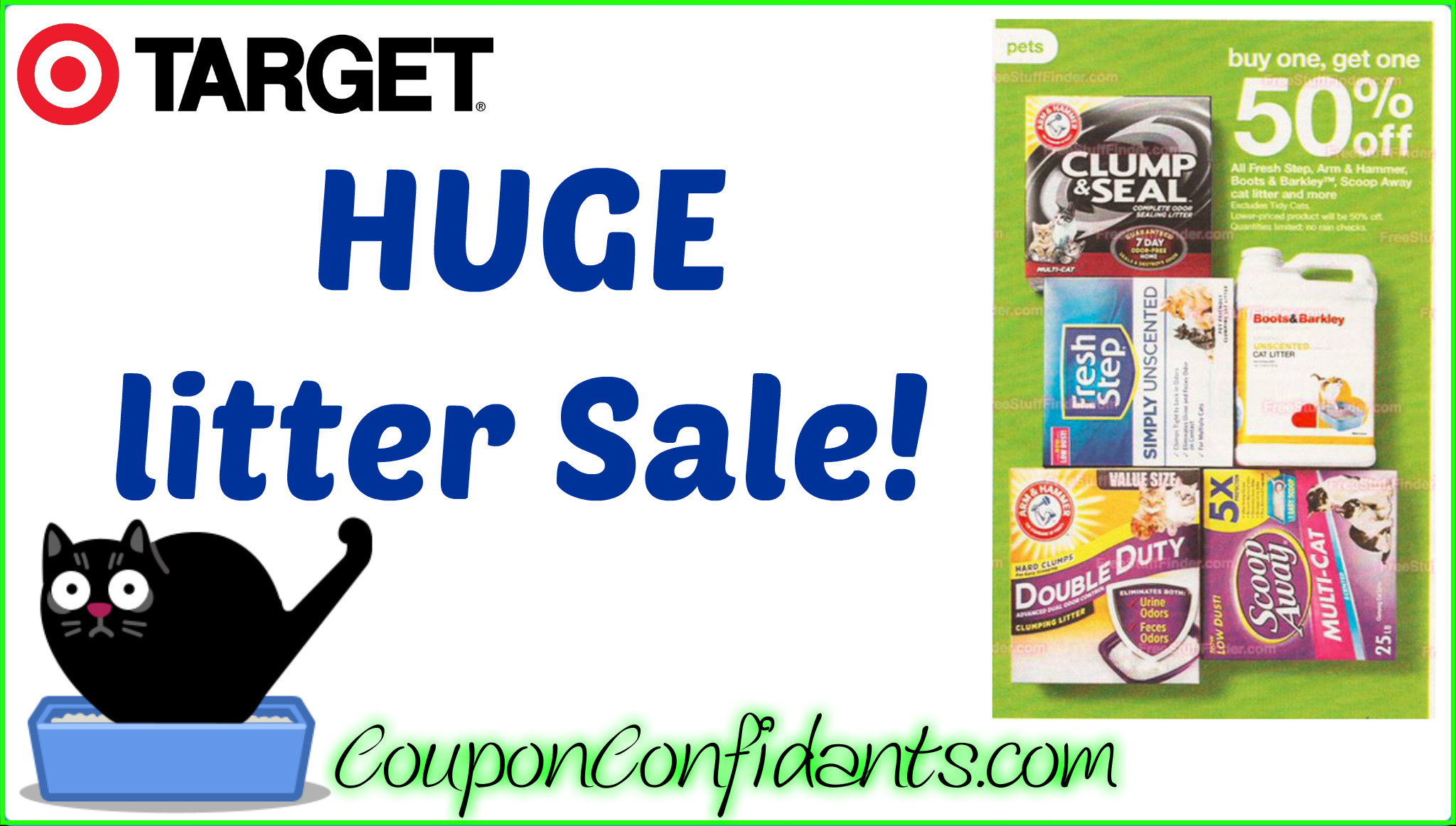 image relating to Tidy Cat Printable Coupon named Enormous sale upon Cat Muddle at Focus!! ⋆ Coupon Confidants