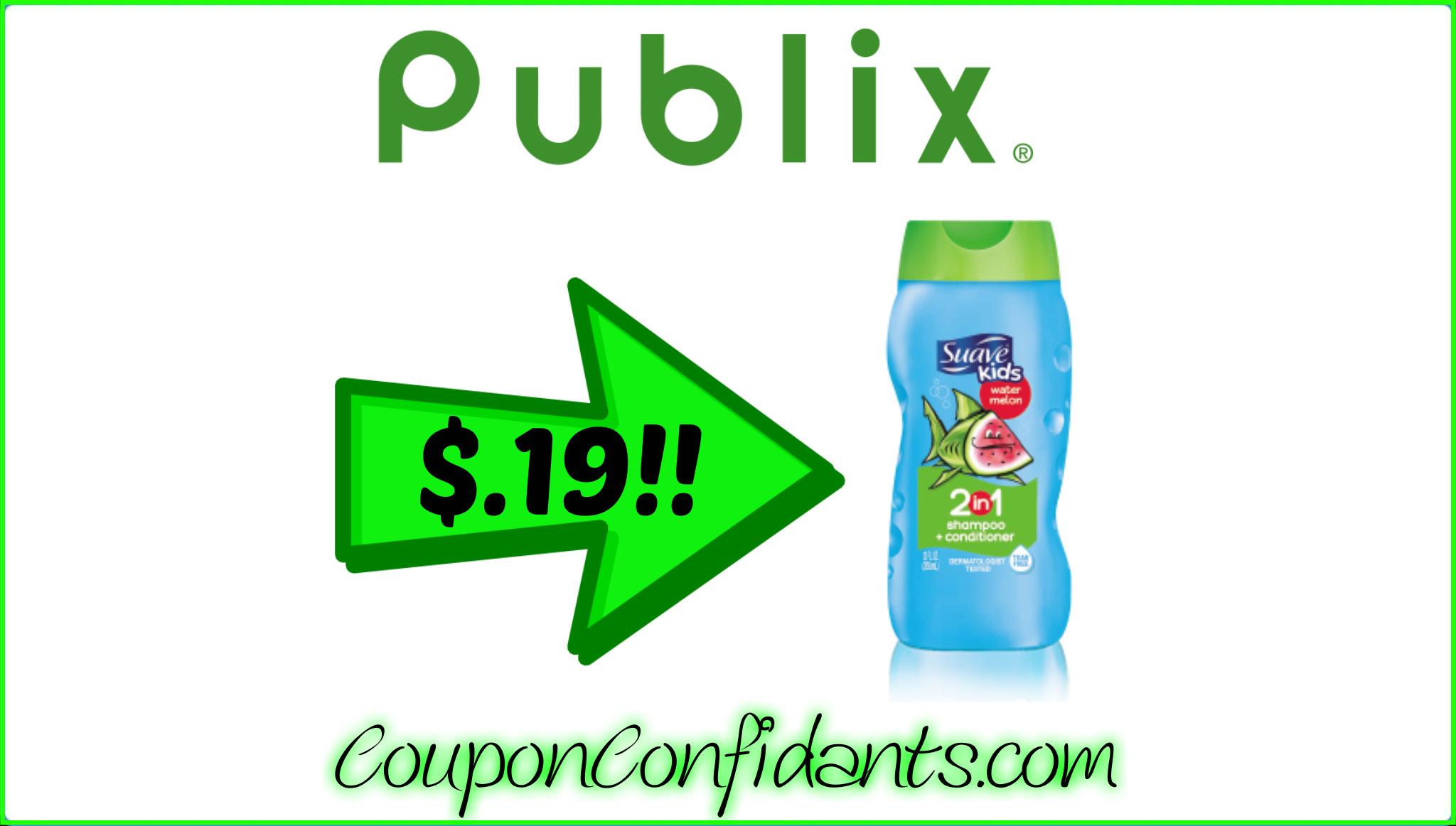 $.19 Suave Kids at Publix! WOW!!