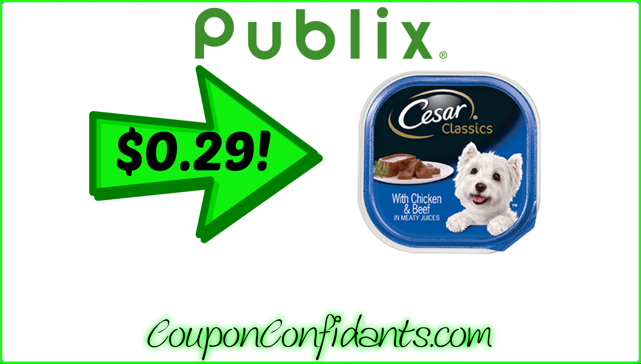 $0.29 Cesar Single Trays at Publix!