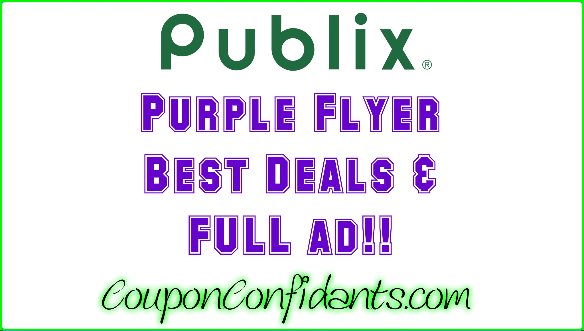 Publix - Health & Beauty (Purple flyer) May 20 - June 2
