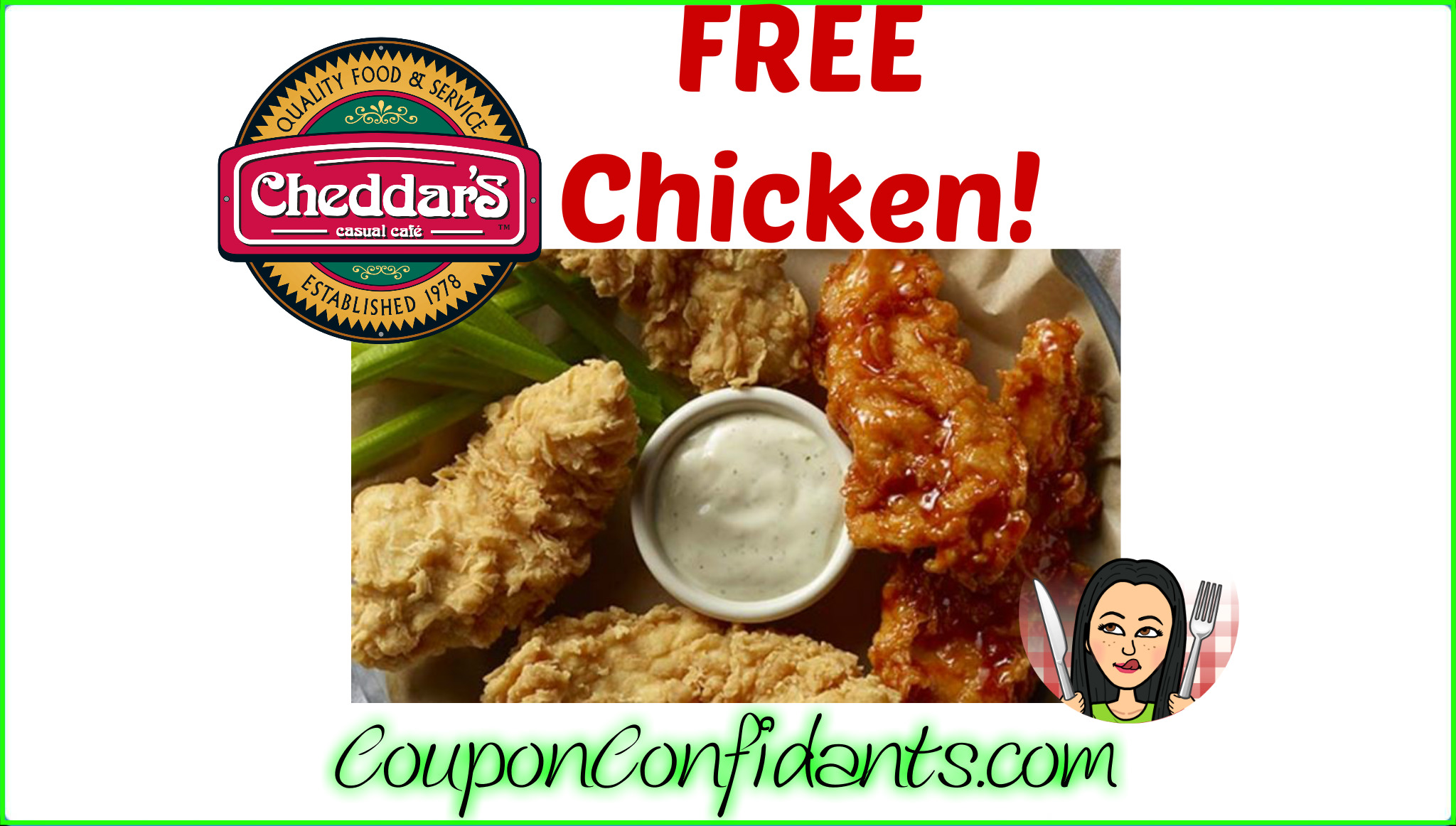 photograph about Cheddars Printable Coupons identify Free of charge 5 piece at Cheddars Cafe upon us! :) ⋆ Coupon