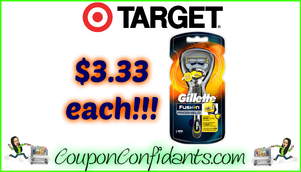 Gillette Fusion ProShield Razors for a LOW Price at Target!!!