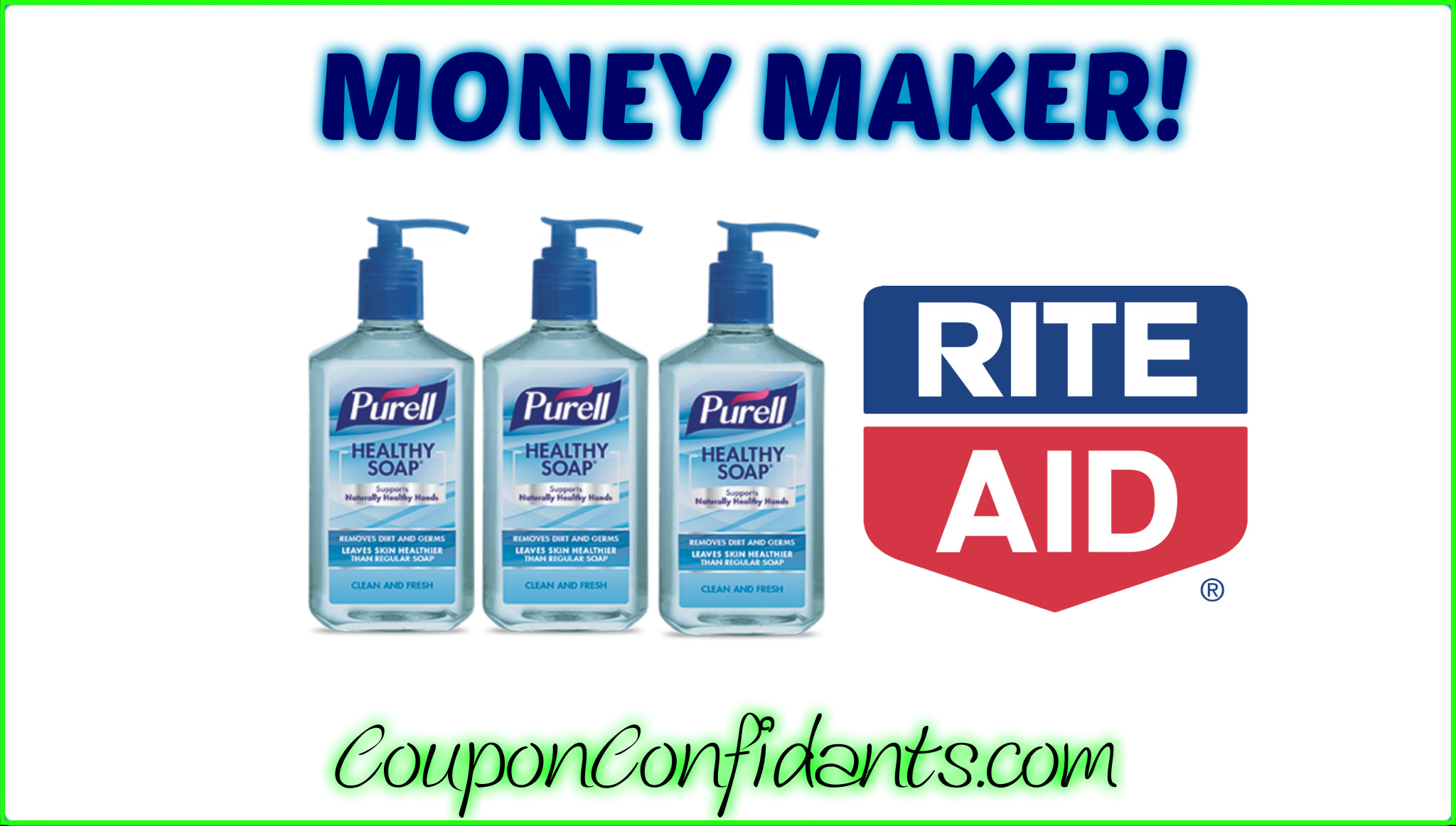 Money Maker at Purell Healthy Soap at Rite Aid!