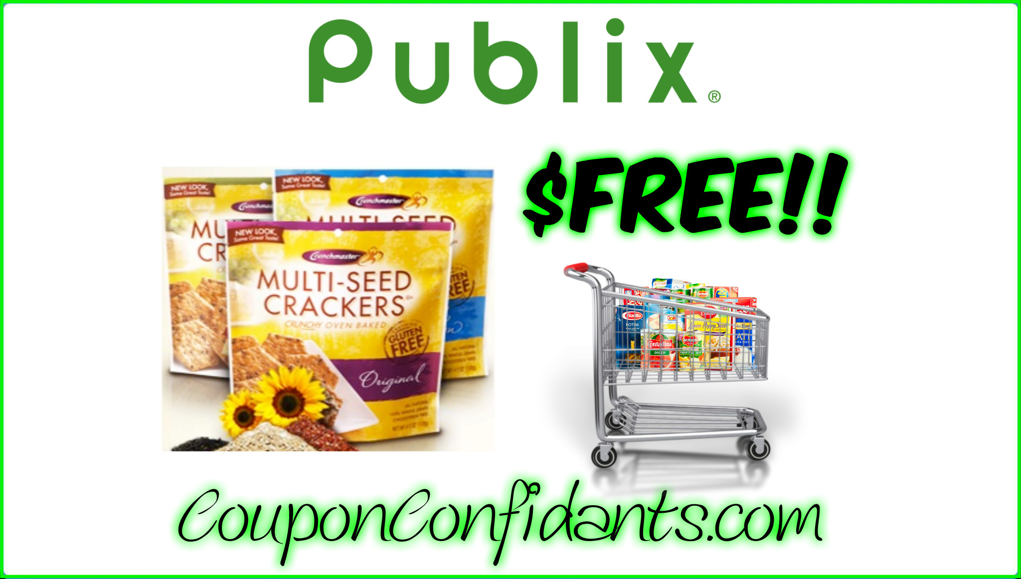 Crunchmaster Crackers FREE at Publix! NEW Deal!