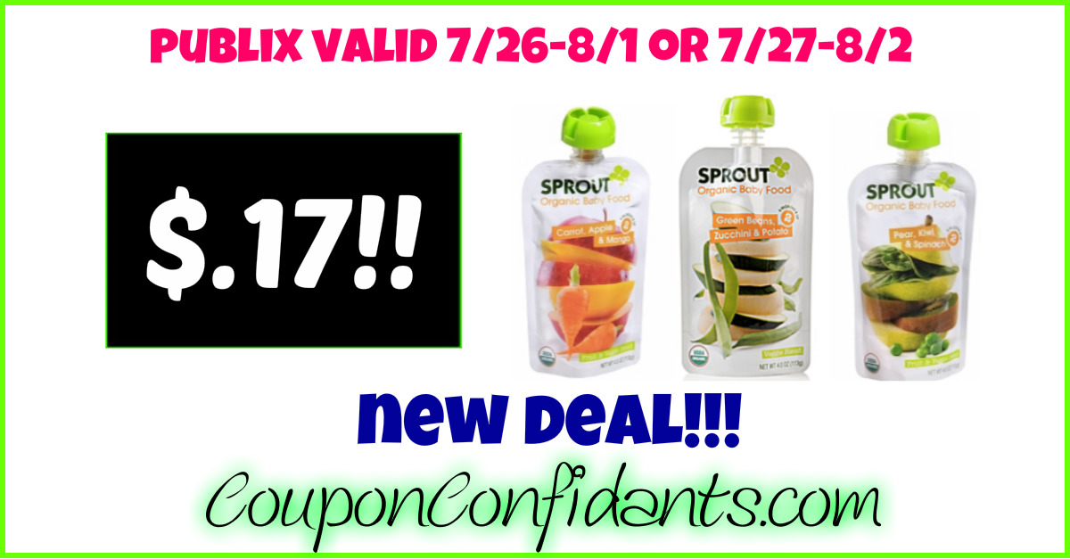 Sprout Baby Food Pouches - $0.17 each!