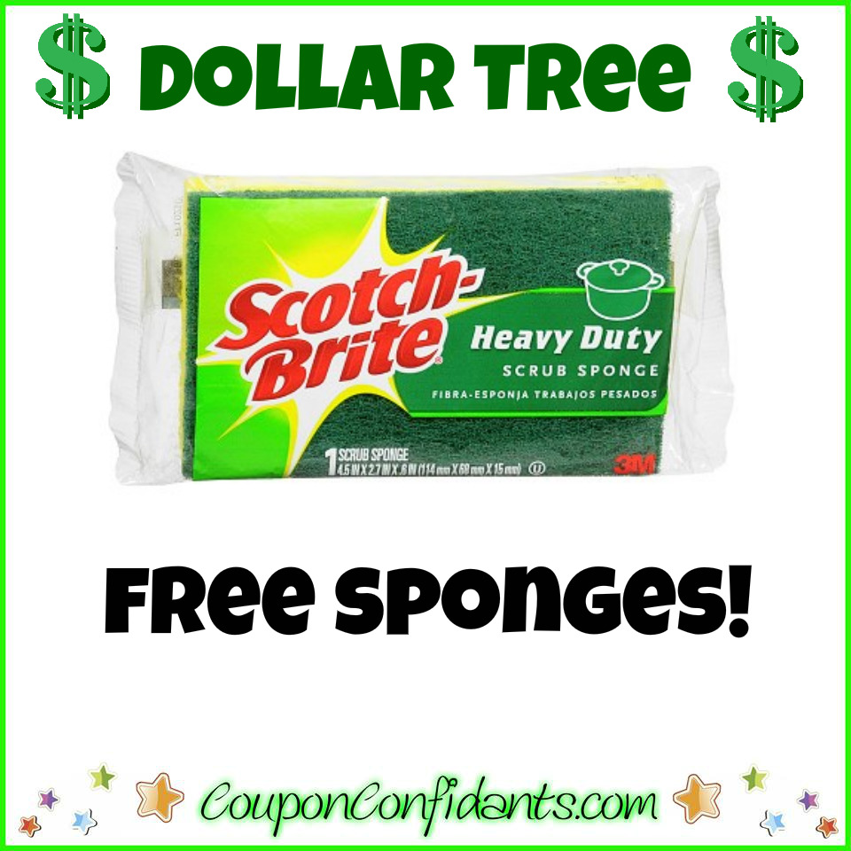 FREE Scotch Brite Sponges at Dollar Tree!
