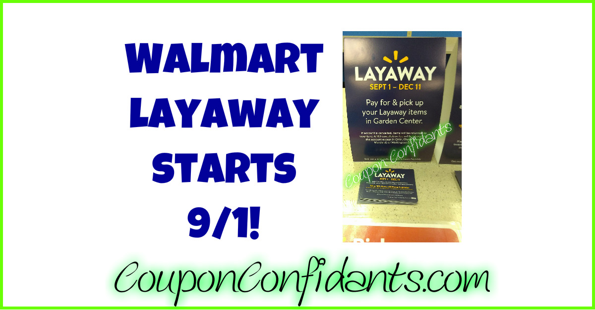Walmart Seasonal Layaway ⋆ Coupon Confidants