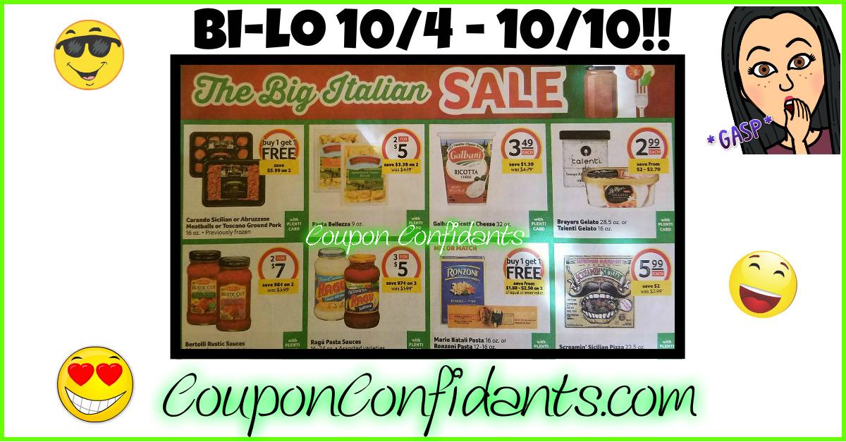 Bi-lo Best Deals 10/4 - 10/10!!